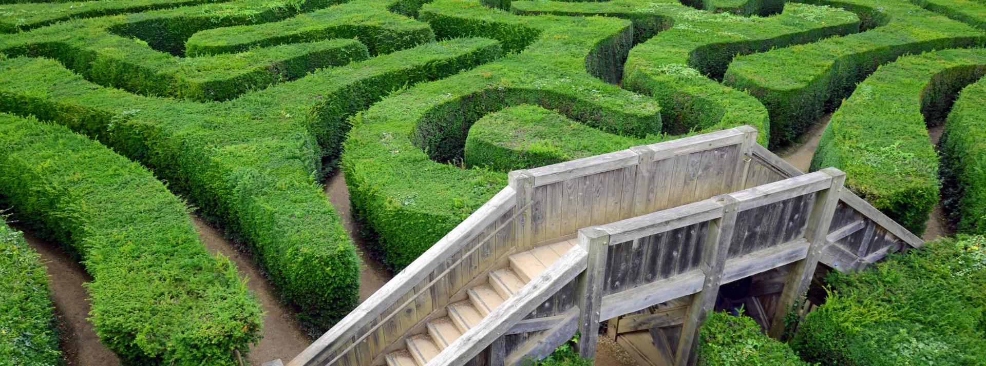 Wir helfen im Labyrinth . . .